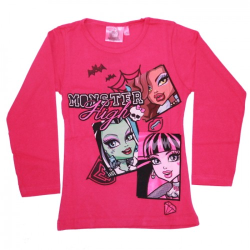 MAJICA MONSTER HIGH (116-152) ROZA