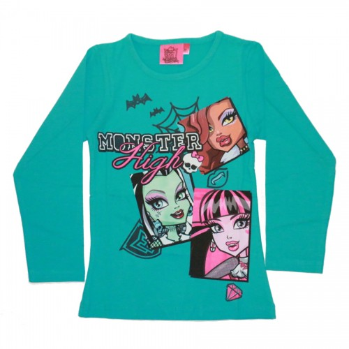 MAJICA MONSTER HIGH (116, 128) MODROZELENA