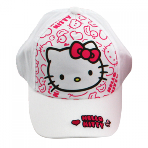 KAPA S ŠILTOM HELLO KITTY (ŠT. 54) BELA