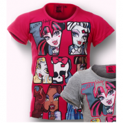 MAJICA MONSTER HIGH (122, 152) ROZA