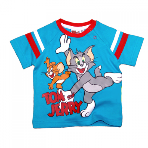 TOM & JERRY BABY MAJICA (62)-MODRA