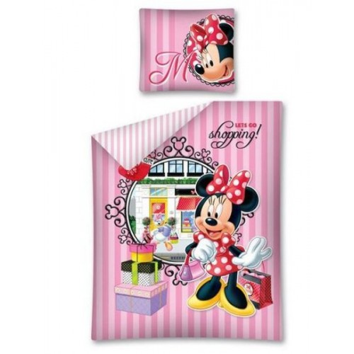 POSTELJNINA MINNIE SHOPPING 140X200/70X80