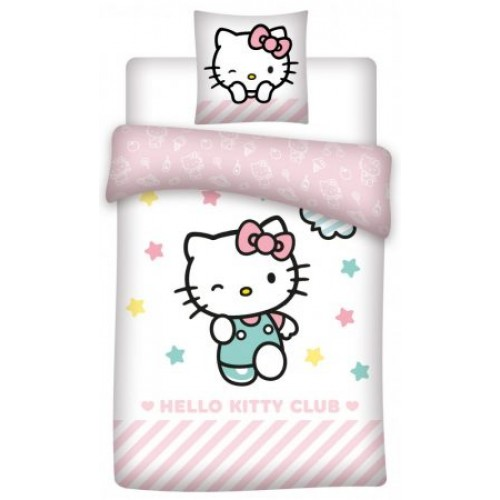 POSTELJNINA HELLO KITTY 140X200/70X90